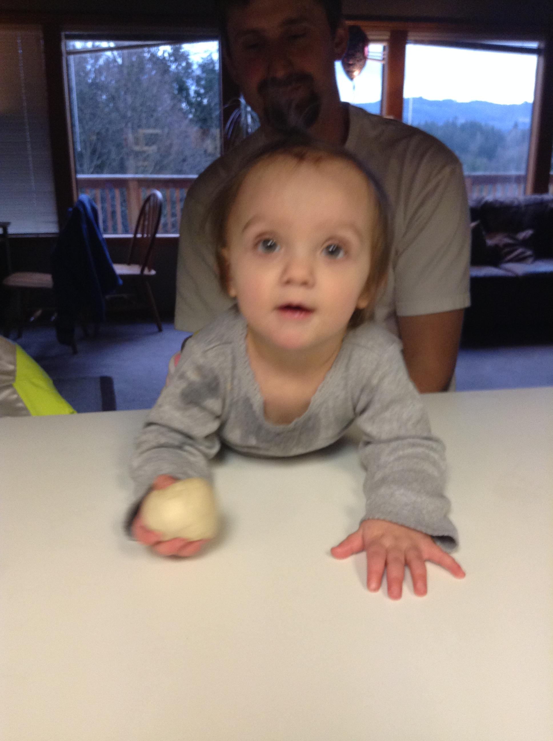 My little helper... I'm teaching her early!