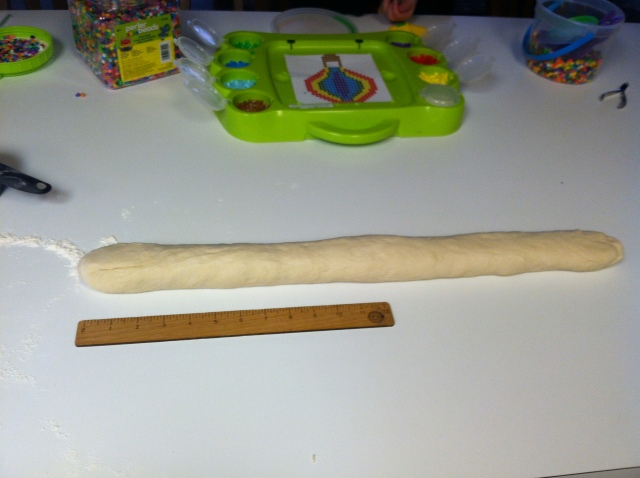 Roll out evenly about 2 feet long