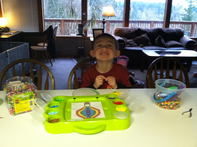 """My helper wanted his pic taken!  He was sitting across from me announcing """"play by play"""" steps I was making!"""