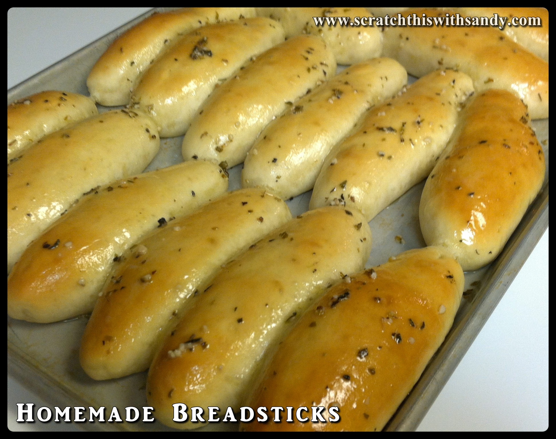 Homemade Breadsticks – Scratch this with Sandy