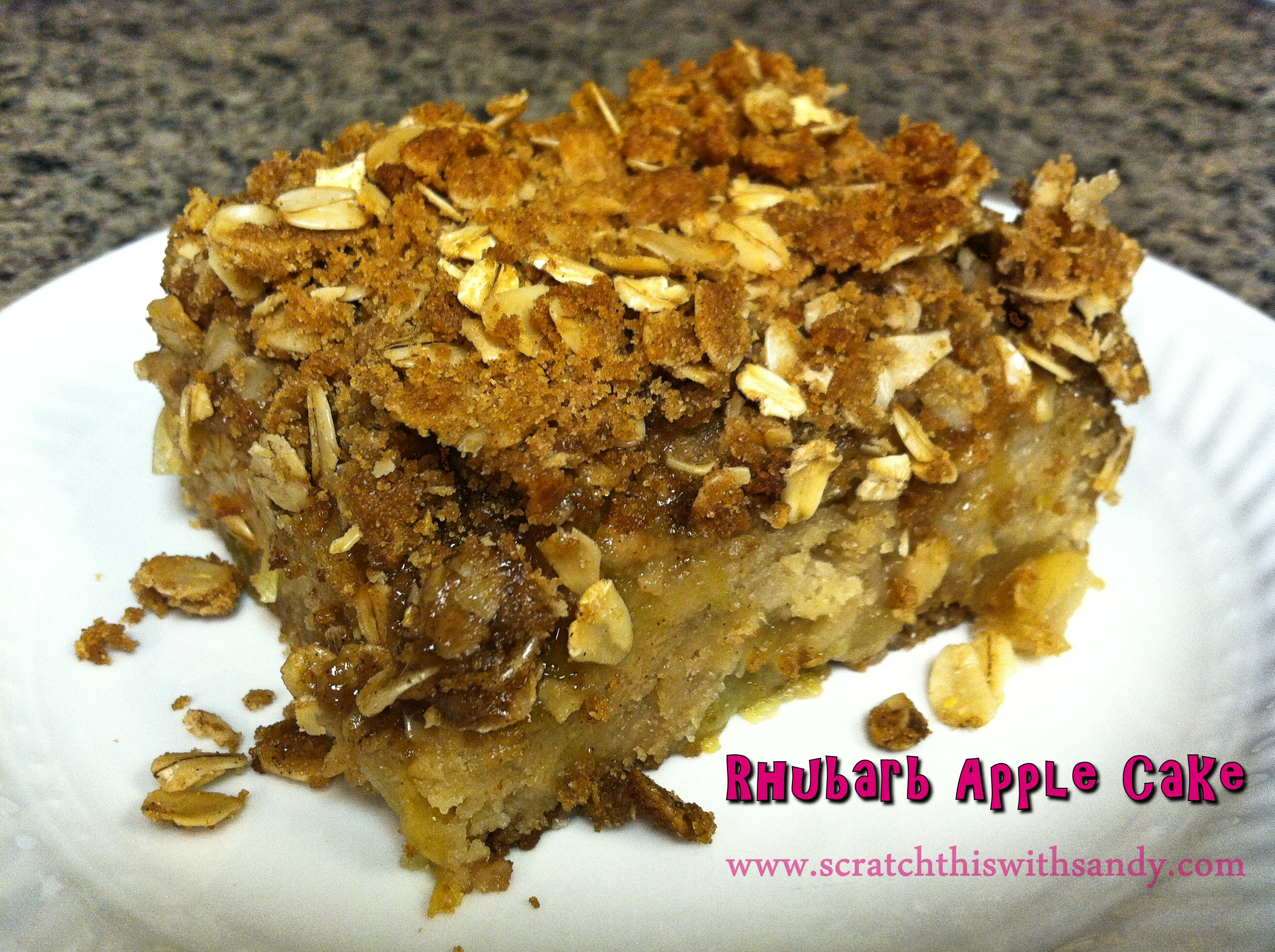 Rhubarb Apple Cake | Scratch This with Sandy
