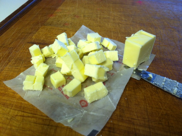 cut the butter into cubes