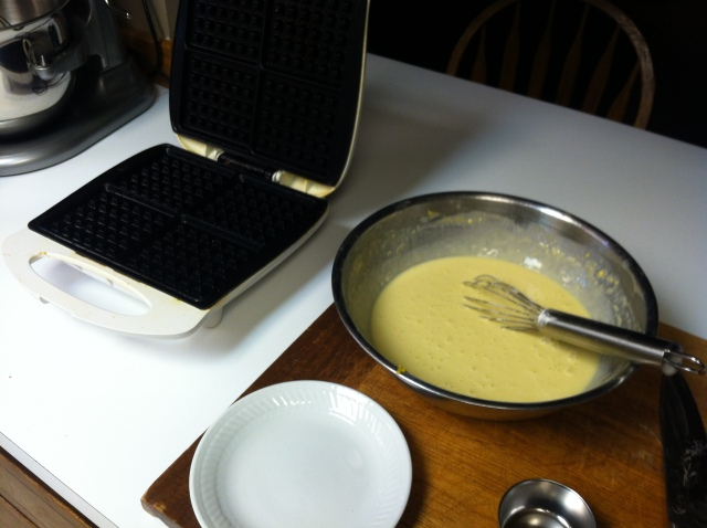 Turn on your waffle maker