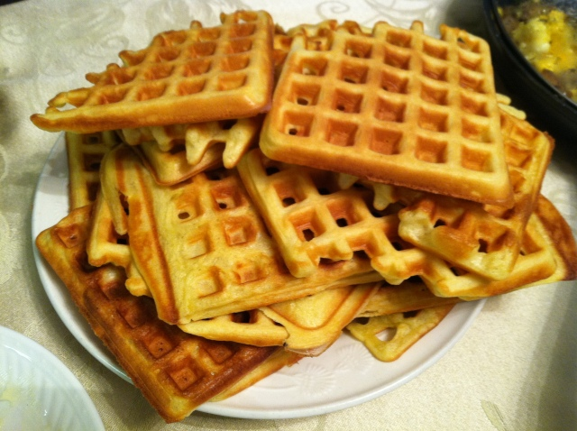 Made a lot of waffles!