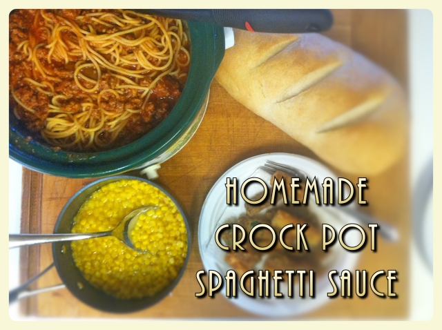 Homemade Crock Pot Spaghetti Sauce Pin ME now cook me later