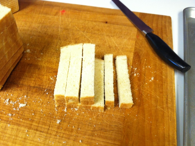 Now slice the slices and slice again to make little cubes