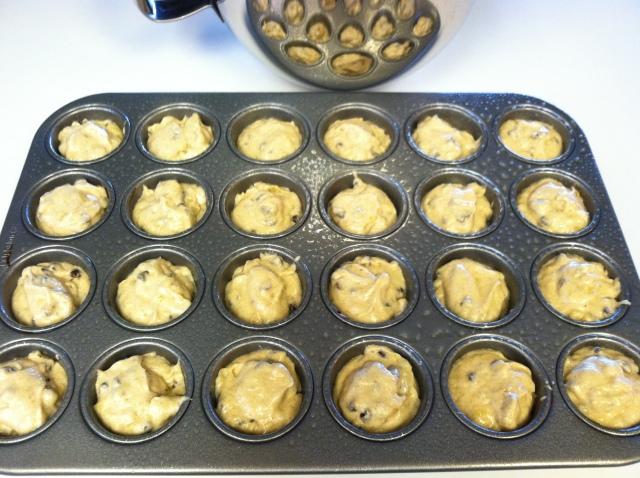 Moist Mini Chocolate Chip Banana Muffins 010